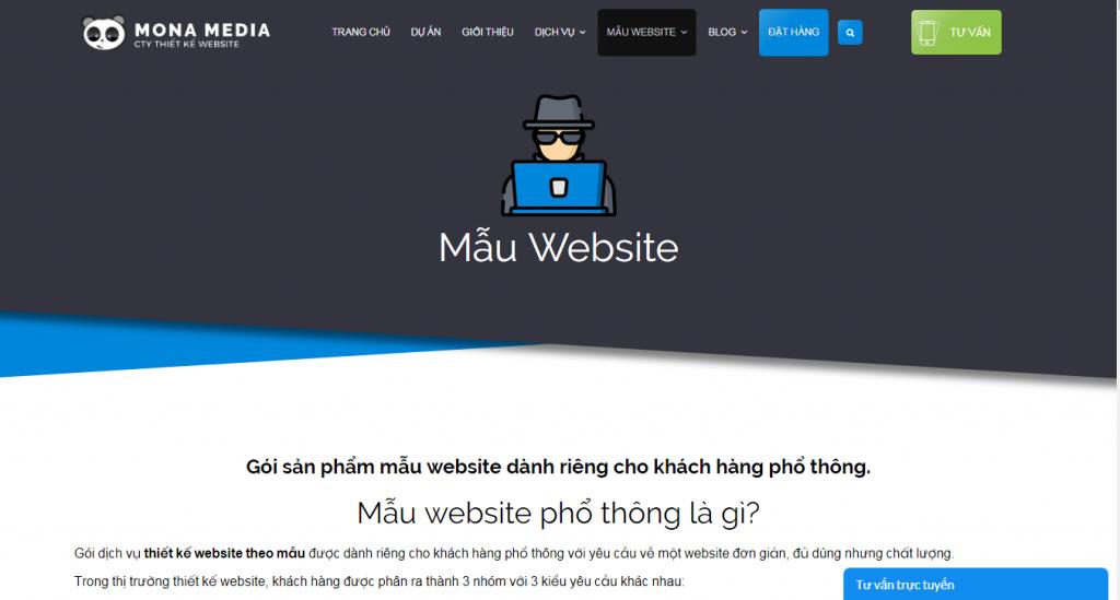 Công ty thiết kế website nhà hàng Mona Media