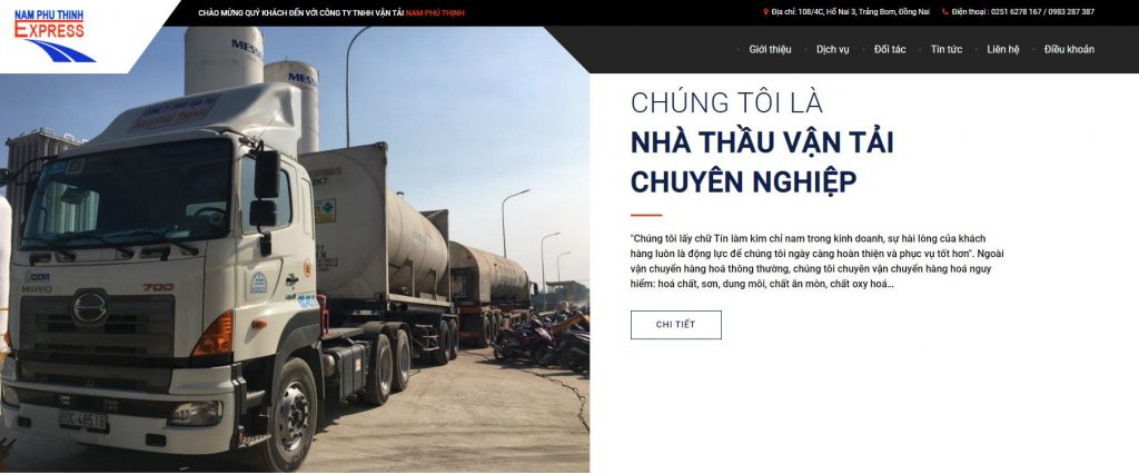Công ty vận chuyển hàng hóa Bắc Nam Nam Phú Thịnh