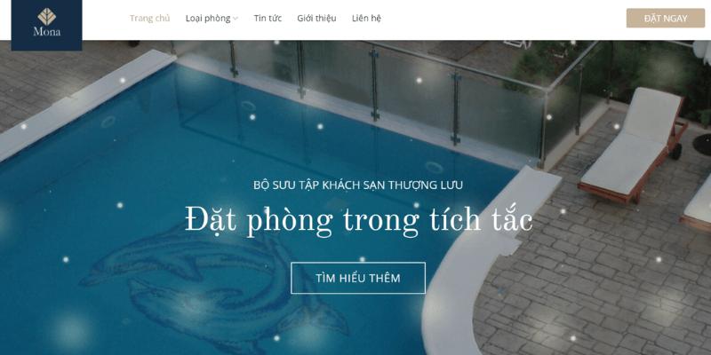 giao diện website khách sạn