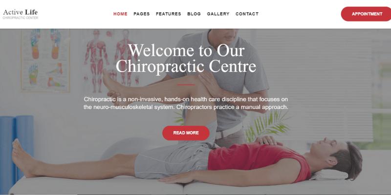 mẫu website active life