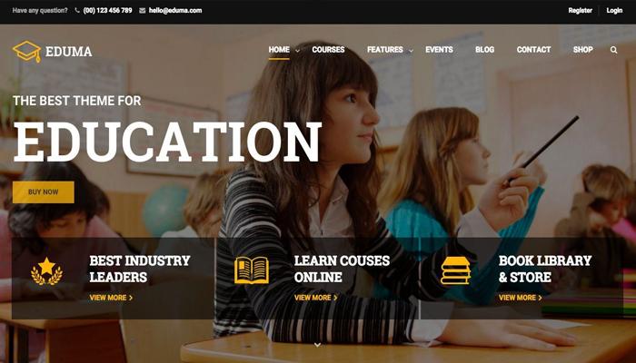 Giao diện WordPress bán khóa học tuyến - Eduma Education WP