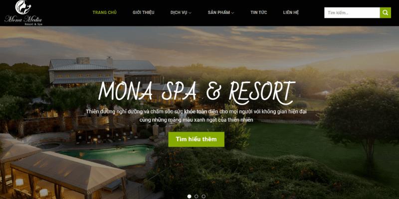 mẫu web spa monaspa