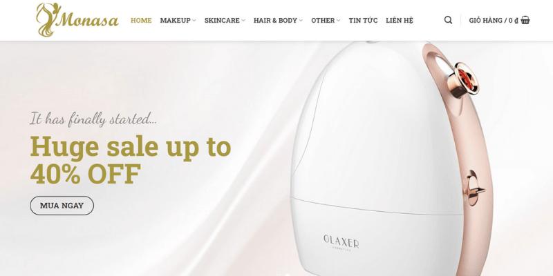 theme mẫu web spa