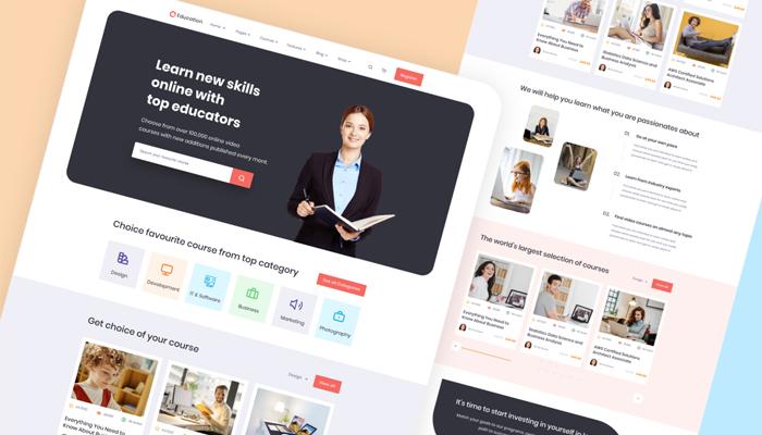Tiêu chuẩn của giao diện website bán khóa học online chuyên nghiệp